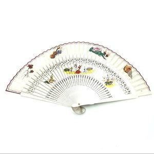 Vintage Painted Spanish Theme Folding Hand Fan